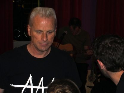 Max, host of the Amsterdam Songwriters Guild Open Mic