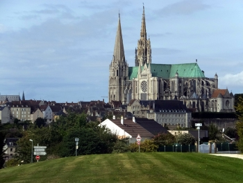 The massive and breathtaking Chartres Cathedral dwarfs everything else in the town.
