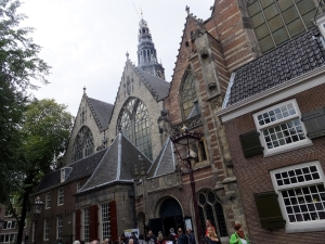 The Oude Kerk (Old Church) is ironically located in De Wallen, the red light district.