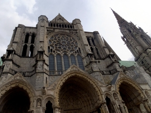The Chartres Cathedral.