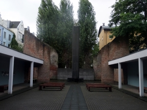 A space for reflection in the Holocaust Memorial.