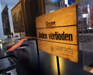 Artifacts from the years of Nazi occupation are on display.