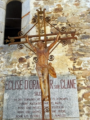 The women and children were locked inside the town's church.