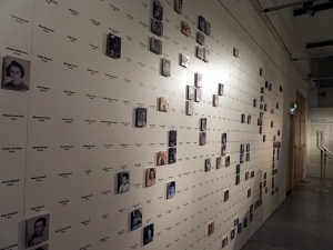 A special exhibit tells the story of one group of children who were taken one day from their parents and sent to different resettlement and concentration camps. Each photo - or blank space if no photo was available - names one of children
