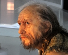 Some of the re-creations are remarkable in their accuracy and detail. This man is a life-sized figure in a diorama.