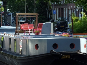 A luxury barge.