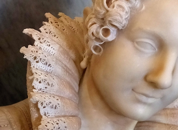 What great sculptors can do with hard, cold marble is miraculous, as shown by the intricate lacework in this piece by Antonio Corradini.