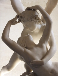 ...but it is a real challenge to portray the exquisite, creamy smoothness of the bodies of Cupid and Psyche, in this work by Antonin Canova.