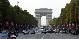 We strolled the Champs-Elysees, and saw the Arc de Triomphe. As fans of the Tour De France bicycle race, this was a special treat. The final stage of Le Tour is held on these cobblestones.