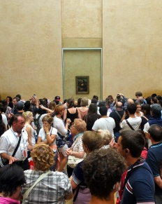 Even worse are the mobs surrounding the Mona Lisa. She hangs forlornly on her own massive wall. It takes patience and fortitude to get close enough to appreciate the masterpiece.