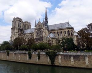 Notre-Dame Cathedral on Île de la Cité.