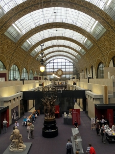 The Musée d'Orsay is also elegant in its own way. It's a former train station, well transformed to show off the art inside.