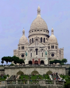 We noted with some irony that Pigalle is nearly straight downhill from Sacré-Cœur, the Basilica of the Sacred Heart. The magnificent white church is perched on Paris's highest hill.