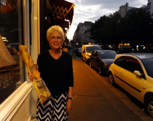 We picked up a Parisian baguette and settled in for our first night in Paris.