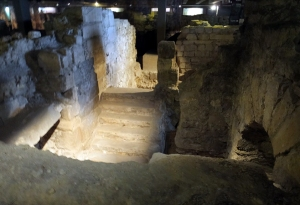 Under the square in front of Notre-Dame is a remarkable site: The Crypte Archéologique du Parvis Notre-Dame (archaeological crypt). The crypt shows the recently excavated foundations of the Gallo-Roman and other eras predating modern Paris.