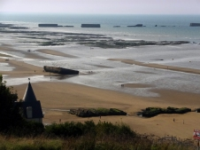 These are the remains of Port Winston, the artificial harbor in the English Channel, assembled immediately after the invasion.
