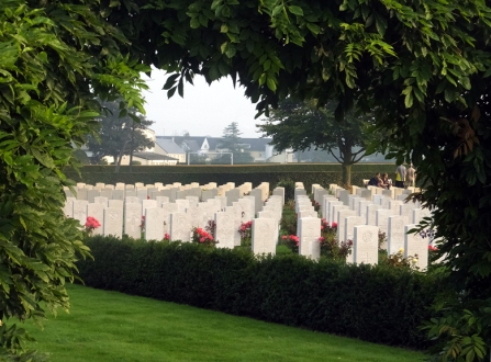 It wasn't just Americans who are honored in Normandy. This is the British Cemetery in Bayeux. In a supreme irony, nearly 1,000 years after the Norman conquest of England was launched from this coast, British soldiers returned here to help liberate France.