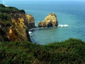 We visited Point du Hoc on the English Channel in Normandy. On D-Day, Army Rangers had to scale these cliffs under fire. Their mission was to take out a German gun battery.