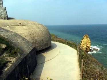 This Nazi observation bunker was one of the Ranger's targets.