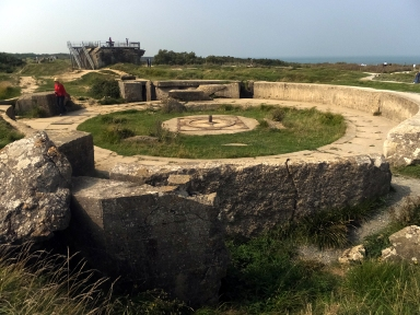 ...as was this German artillery emplacement.