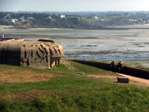 On the way to Mont St. Michel we saw yet another German bunker, left in place as a permanent reminder of the