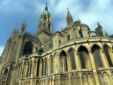 Bayeux Cathedral is a massive structure.
