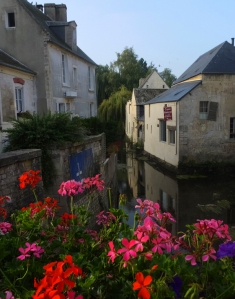The picturesque River Aure runs through the middle of Bayeux.