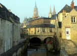 Many of Bayeux' old Medieval structures remain intact and in use.