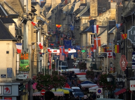 Almost every European town has a weekly Market Day. In Bayeux it's a festive and crowded occasion.