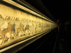 "Bayeux' main ""claim to fame"" is the Bayeux Tapestry. This remarkably preserved, 230-foot long work of art dates from the 11th or 12th century. It is well worth a visit."