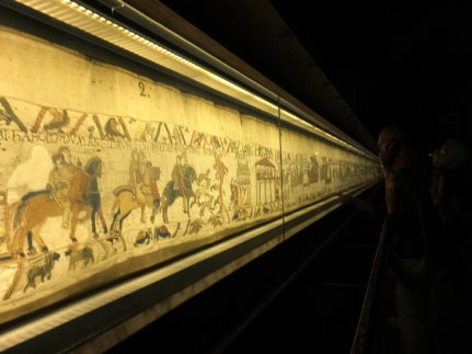 "Bayeux's main ""claim to fame"" is the Bayeux Tapestry. This remarkably preserved, 230-foot-long embroidery dates from the 11th or 12th century. It's exact origins are uncertain."