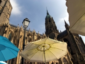 We ate tasty crepes in the Pomme Cannel, a little cafe next to the cathedral, recommended by European travel guru Rick Steves.