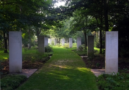 """Bayeux is also home to the """"Path of Remembrance,"""" a memorial garden created by Reporters Without Borders and the town of Bayeux. A marble panel for each year since 1944 lists the names of war correspondentswho were killed that year. It is a moving and unusual memorial."""
