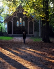 This little chapel is in the hills overlooking the town. Here Sarah is exploring the area.
