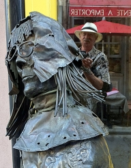 Art is everywhere in Honfleur. This metal sculpture was outside a gallery.