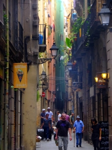 The Barri Gotic (Gothic Quarter) is the center of the old city of Barcelona.