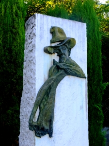 Orgon -- like almost every town in France -- remembers the famous French Resistance leader Jean Moulin. This monument overlooks a small contemplative garden dedicated to the memory of those who resisted the Nazis in occupied France.