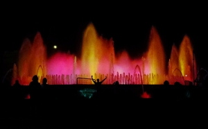 The Magic Fountain of Montjuïc entertains nightly with ever-changing showers of light.