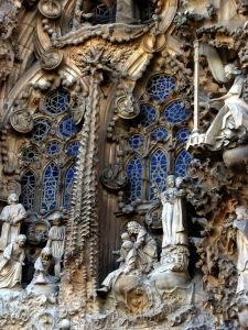 In intricate detail, every square inch of the structure tells part of the story of the Sacred Family.