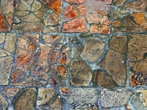 The ancient tile floors have survived the centuries well.
