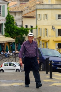 I enjoyed walking the colorful, old streets of Arles.
