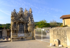 Cheval also wanted to be buried in his palace. However, since that is illegal in France, he proceeded to spend eight more years building a mausoleum for himself in the Hauterives cemetery. He died on 19 August 1924, about a year after he had finished building it, and is buried there.