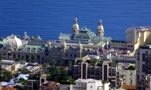 The Corniches provide a great view of the Principality of Monaco. This is the famous casino there. We drove through Monaco but it was so crowded and uninviting that we chose not to stop. I was mildly thrilled to drive on a bit of the Grand Prix of Monaco motor racing circuit.