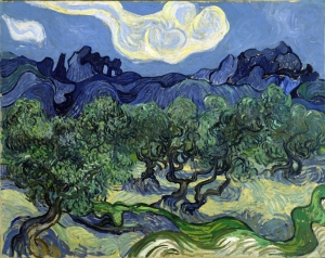 Van Gogh's <em>The Olive Trees</em> is now in the Museum of Modern Art in New York.
