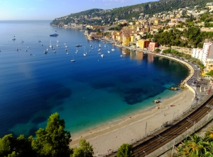 The vivid blue of the Mediterranean Sea is what gives the Cote d'Azur its name.