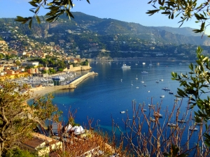 To the east lies Cap Ferrat, some of the most expensive real estate on the planet.