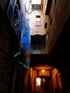 "The Rue Obscure (""Dark Street"") is a passageway that passes under the town near the harbor. It dates from 1260."