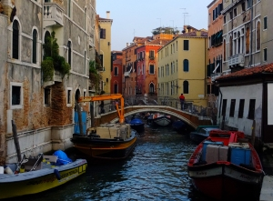 As I wandered, I discovered that every function that we take for granted on land has been adapted to the water in Venice.