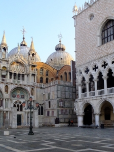 But we were delighted by visits to the Doge's Palace (on right) and St. Peter's Basilica (on left).