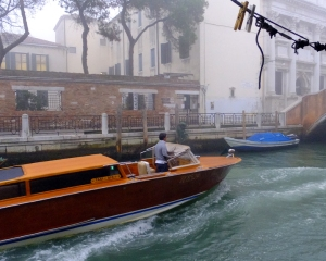 The most remarkable thing about our Venice apartment was the canal view out the windows of the kitchen and living room.